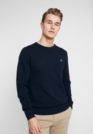 C NECK - Sweter - evening blue