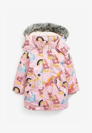 WATERPROOF UNICORN ALL-OVER PRINT - Winter coat - pink