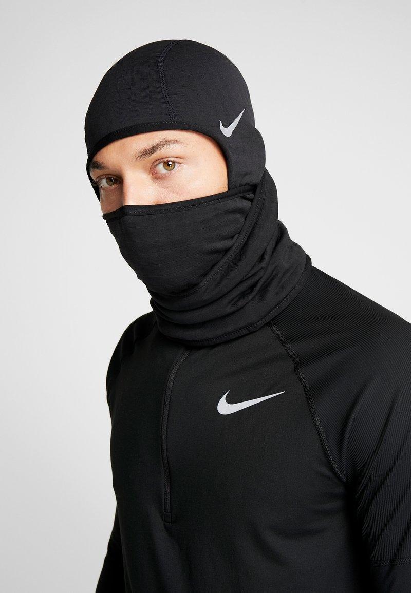 Nike Performance - RUN THERMA SPHERE HOOD - Beanie - black/silver