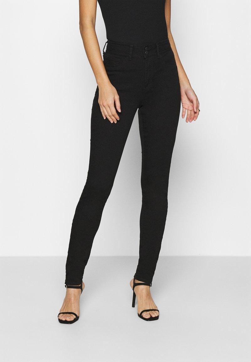 Guess - SHAPE UP - Kalhoty - jet black