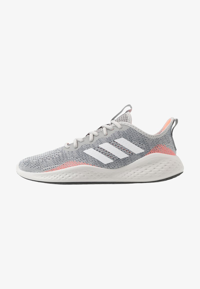 adidas Performance - FLUIDFLOW - Neutral running shoes - grey two/footwear white/signal coral