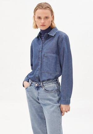 Button-down blouse - clean blue
