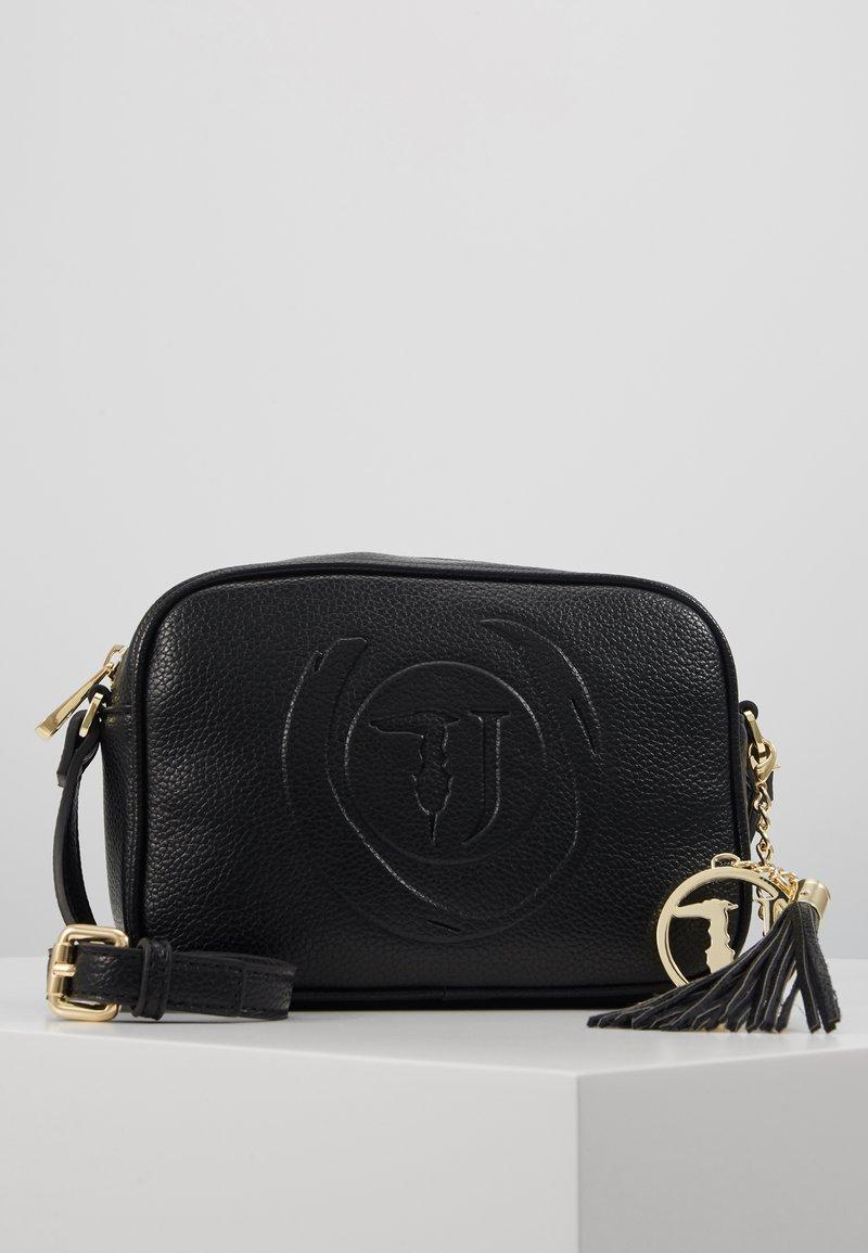 Trussardi Jeans - FAITH CAMERA CASE - Across body bag - black