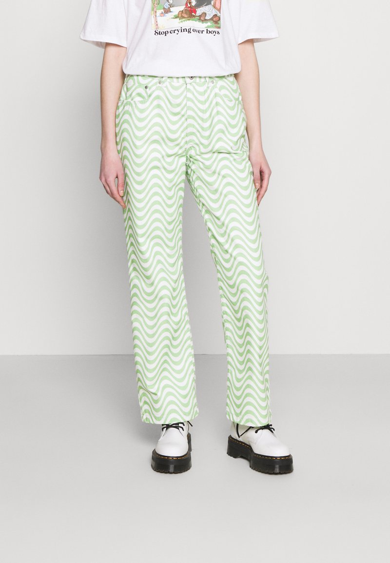 The Ragged Priest - PRISM - Straight leg jeans - lime/white