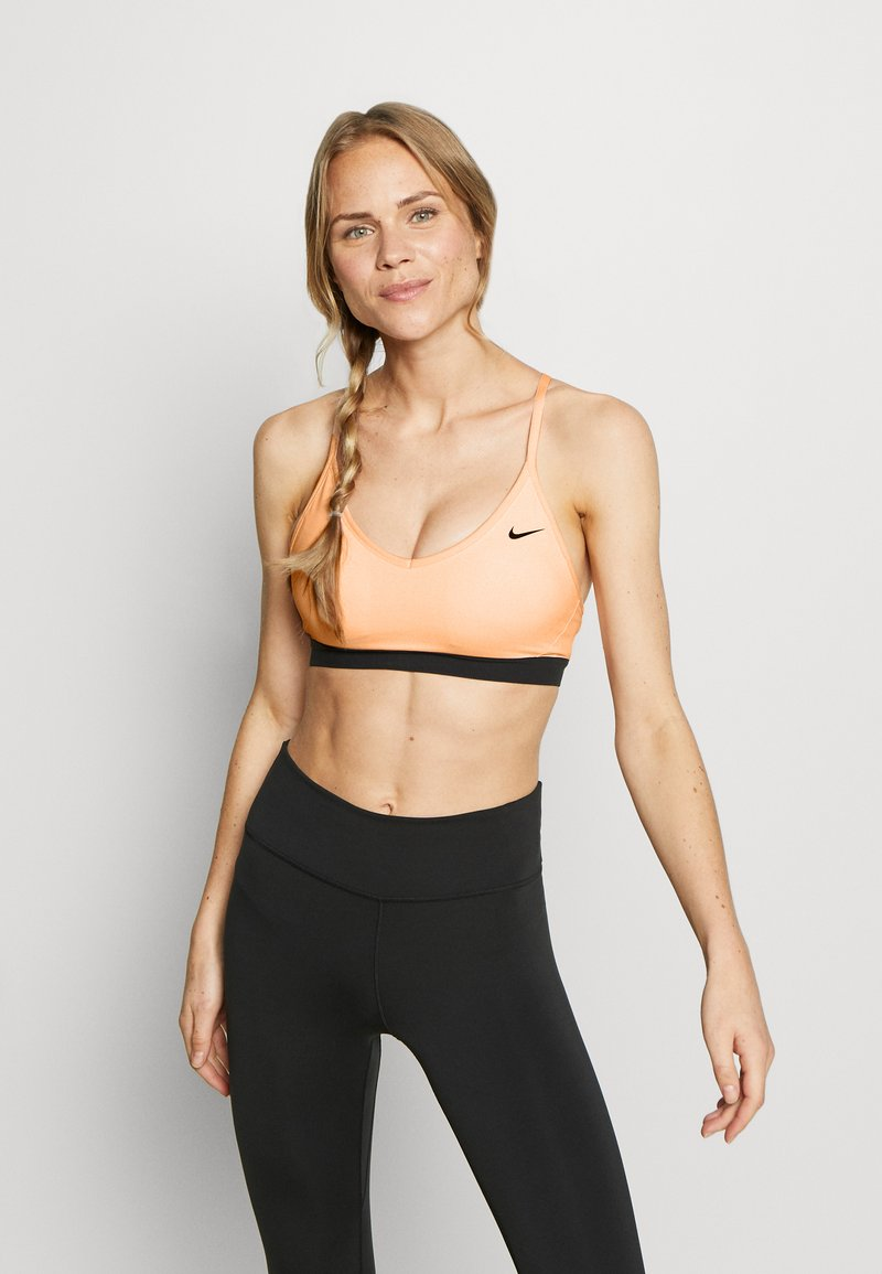 Nike Performance - INDY BRA - Sports bra - washed coral/black/black