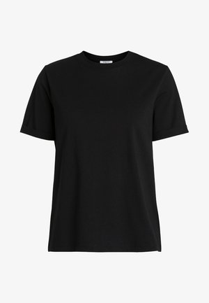 PCRIA FOLD UP TEE - Basic T-shirt - black