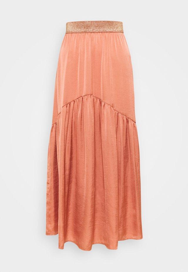 LJUPON  - Maxi skirt - rose des sables