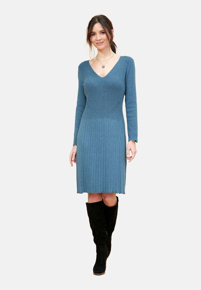 Gebreide jurk - bluish-gray