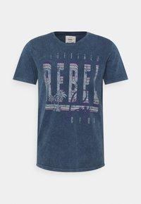 Redefined Rebel - RACE TEE - T-shirt print - navy - 4