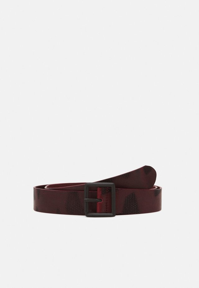 DOUBLE BELT UNISEX - Cintura - dark red