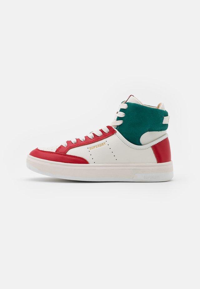 PREMIUM BASKET LUX TRAINER - Sneakers hoog - white
