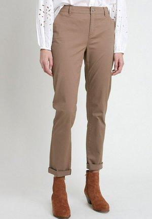 Trousers - beige foncé