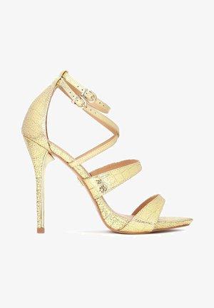 TERRY - Sandály na vysokém podpatku - gold