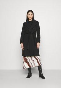Miss Selfridge - BELT COAT - Classic coat - black - 1