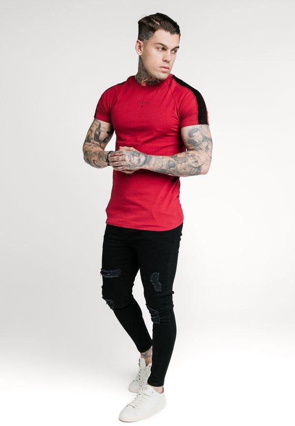 SIKSILK IMPERIAL RAGLAN GYM TEE - T-shirt basic - dark red/ciemnoczerwony Odzież Męska DGIS