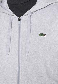 Lacoste - CLASSIC HOODIE - Sweatshirt - silver chine/elephant grey - 5