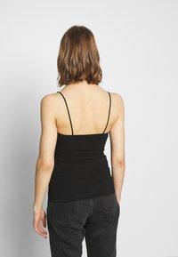 Gina Tricot - SCARLETT SINGLET 2 PACK - Topper - black/white - 3