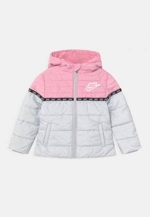 TAPING COLOR BLOCK PUFFER - Zimní bunda - pink