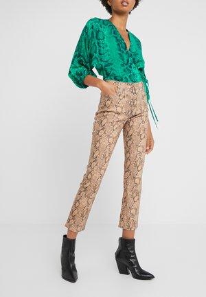 HIGH STRAIGHT PYTHON - Straight leg jeans - light brown