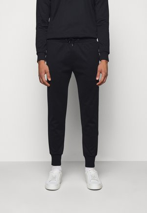 GENTS STRIPE PANEL JOGGER - Verryttelyhousut - black