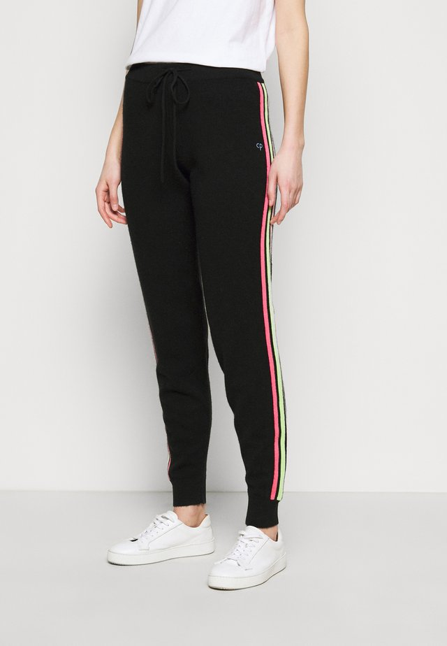 STRIPE LEG TRACK PANTS - Verryttelyhousut - black/multi