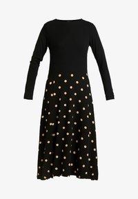 Dorothy Perkins - CAMEL SPOT MIDI - Jersey dress - black - 4