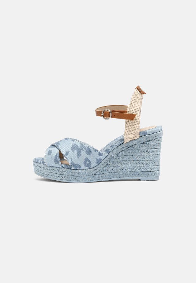 MAIDA ANY - Platform sandals - azzurro