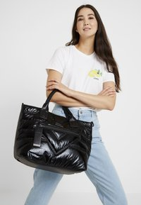 River Island - QUILTED SHOPPER - Tote bag - black - 1