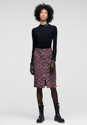 Pencil skirt - mono boucl