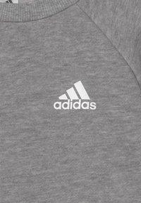 adidas Performance - SET UNISEX - Chándal - medium grey heather/black melange/white - 3