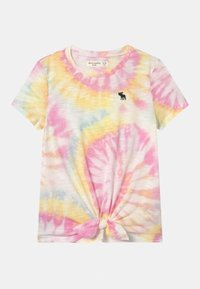Abercrombie & Fitch - TIE FRONT  - Print T-shirt - white - 0