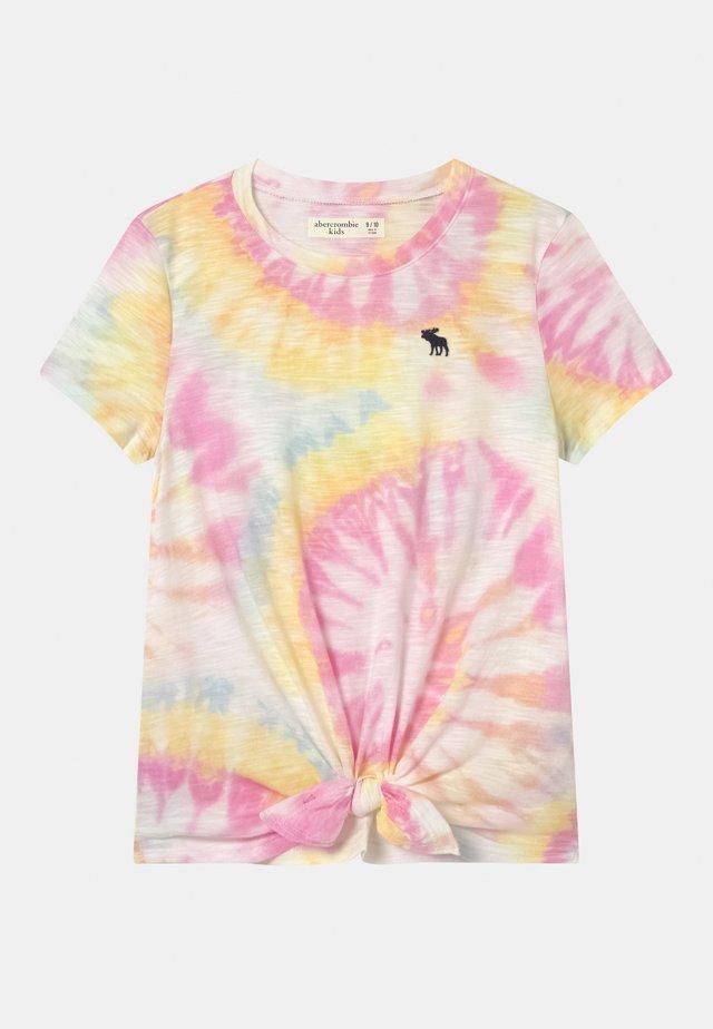 TIE FRONT  - T-shirt print - white