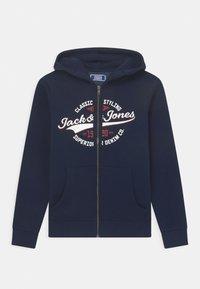 Jack & Jones Junior - JJELOGO ZIP HOOD JR - Sweater met rits - navy blazer - 0