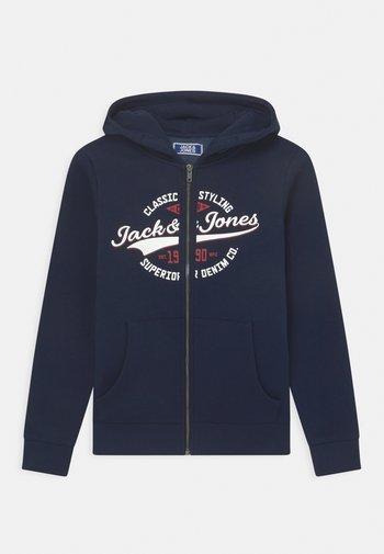 JJELOGO ZIP HOOD JR - Zip-up sweatshirt - navy blazer