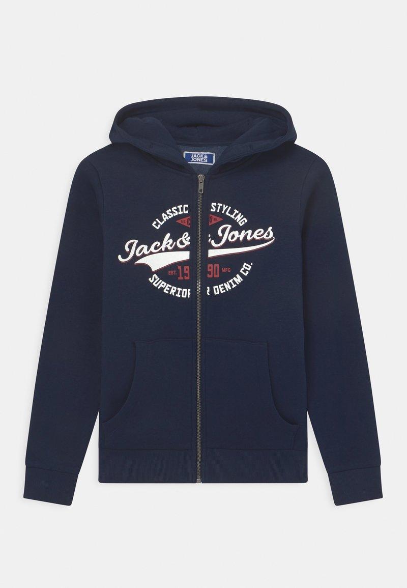 Jack & Jones Junior - JJELOGO ZIP HOOD JR - Sweater met rits - navy blazer