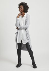 Vila - VIRIL LONG CARDIGAN - Kardigan - light grey melange - 1