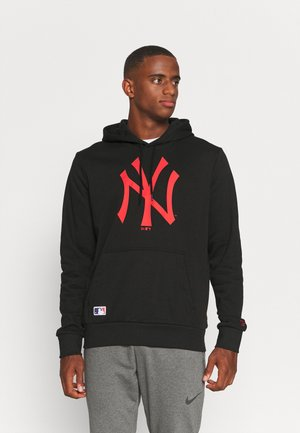 MLB NEW YORK YANKEES SEASONAL TEAM LOGO HOODY - Klubbkläder - black/red
