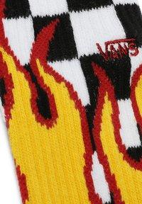 Vans - MN FLAME CHECK CREW (9.5-13, 1PK) - Strumpor - black-white check-flame - 1