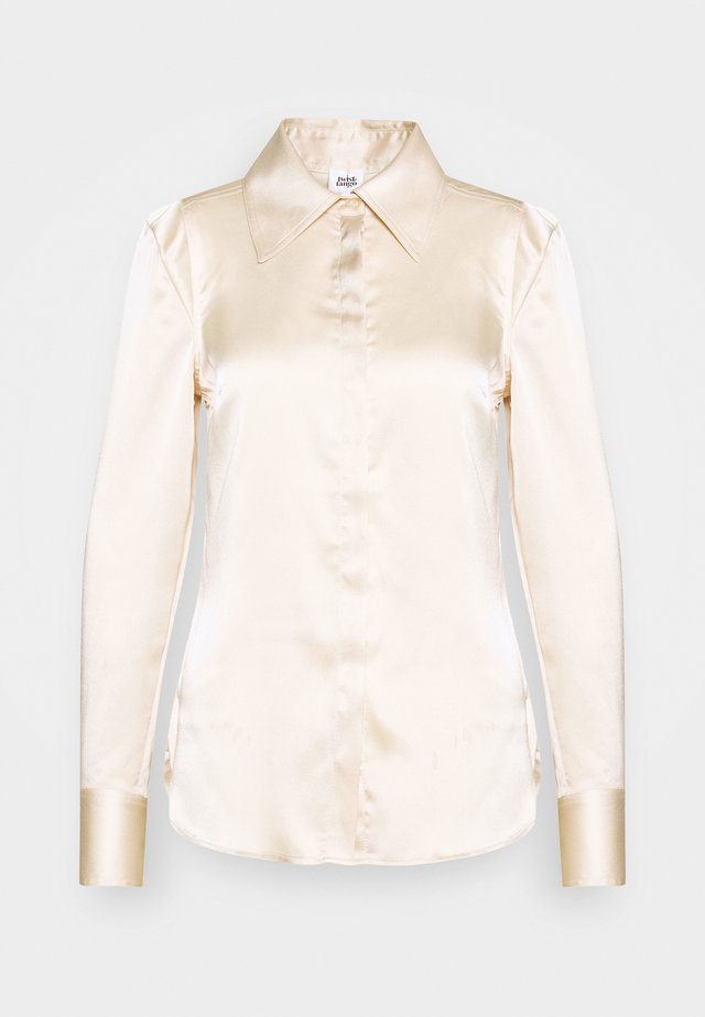 PEGGY - Button-down blouse - pearl
