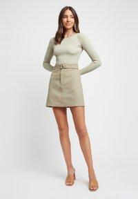 Kookai - A-line skirt - p8-moss gray/vert mousse - 1
