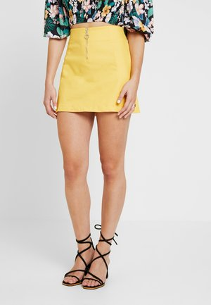 RING PULLER SKIRT - Áčková sukně - yellow