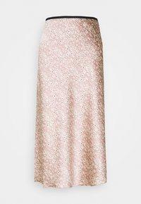 MAXI SKIRT - A-line skirt - orange/dusty light