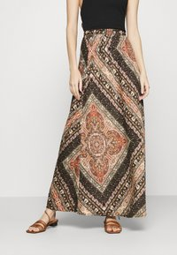 ONLY - ONLCECILIA ANCLE SKIRT WVN - Maxi skirt - hot sauce/spice scarf - 0