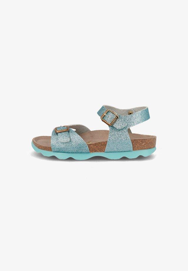 KENIA GLITTER - Sandals - hellblau