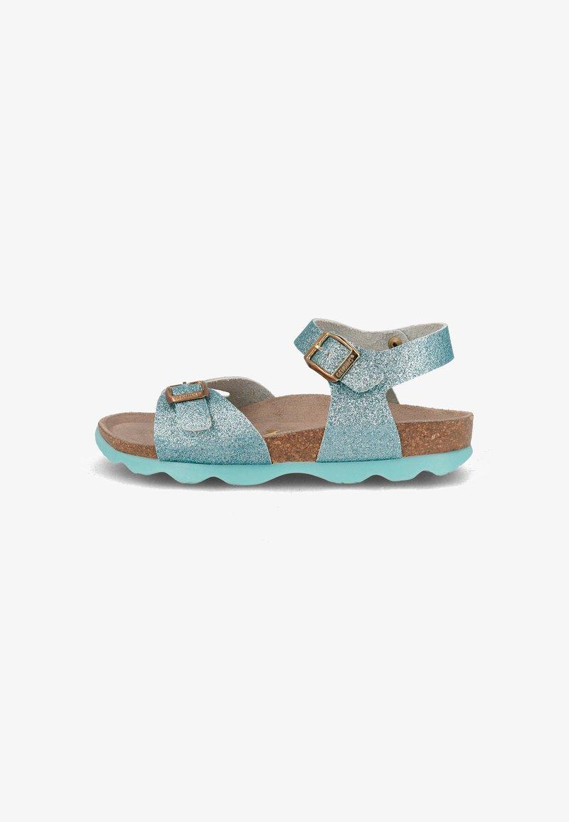 Genuins - KENIA GLITTER - Sandals - hellblau
