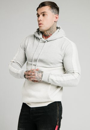 DROP SHOULDER CUT SEW HOODIE - Mikina s kapucí - grey marl/snow marl
