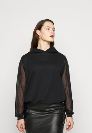 DROP SHOULDER SLEEVE HOODIE - Felpa - black
