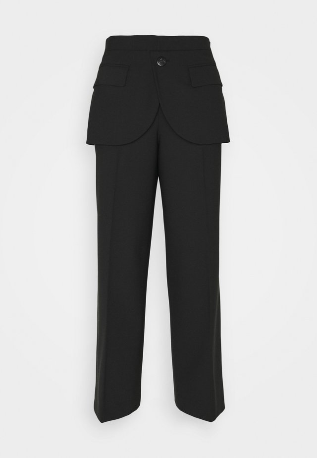 HYBRID - Trousers - black