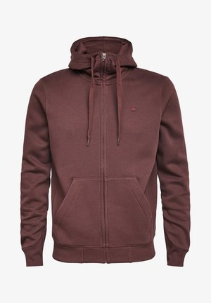 PREMIUM CORE HOODED ZIP LONG SLEEVE - Zip-up hoodie - dk fig