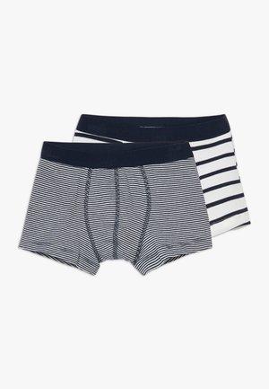 2 PACK - Pants - white/blue